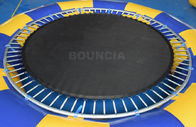 PVC Tarpaulin Round Inflatable Water Trampoline Durable With Spring Structure