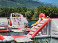 France Inflatable Commercial Water Park / Lake Inflatable Water Games Park