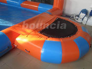 0.6mm Durable PVC Tarpaulin Inflatable Water Pool With Platform And Fence