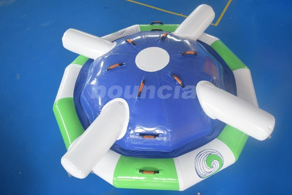 Customized 0.9mm PVC Tarpaulin Saturn Inflatable Rocker For Water Park