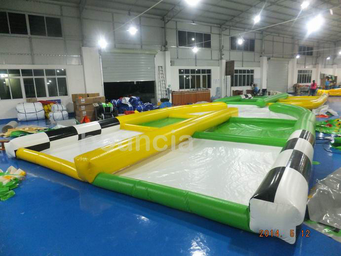 0.55mm PVC Tarpaulin Inflatable Zorb Ball Track For Zorb Ball Games