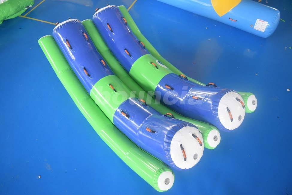 3.2mL*1.8mW Double Tubes Inflatable Water Totter For Adults