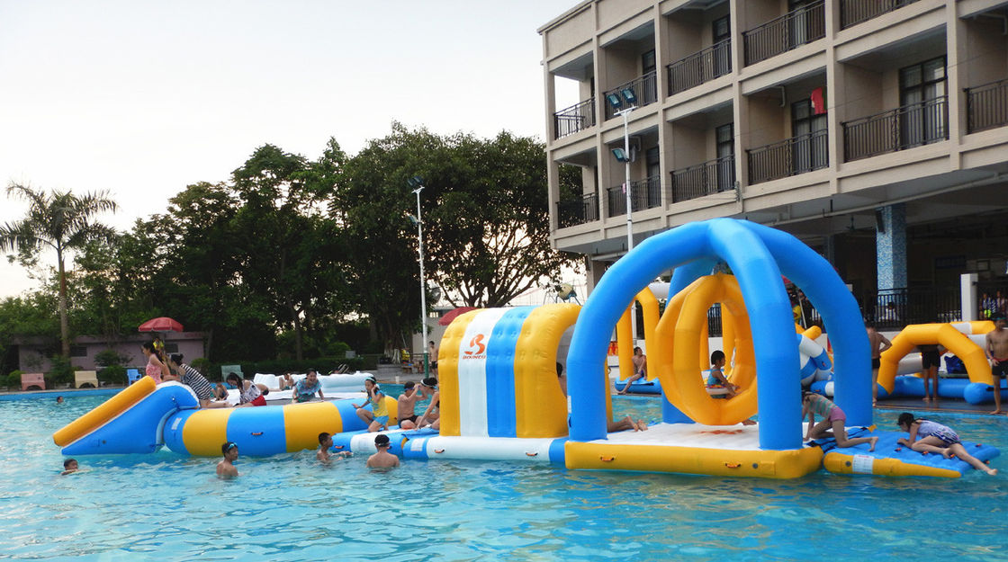 Inflatable Water Park For Party, Pool Inflatable Water Games For Rental Business