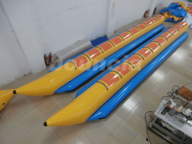 10 Persons Inflatable Banana Boat With 2.0mm PVC Tarpaulin Bottoms