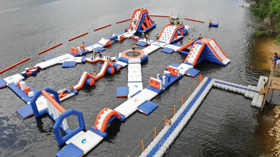 Cambodia Water Games Inflatable Water Park Equipment For Kids and Adults