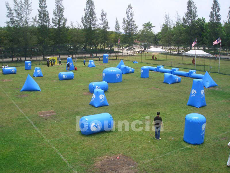 Commercial Grade PVC Tarpaulin Inflatable Paintball Bunker BUN39