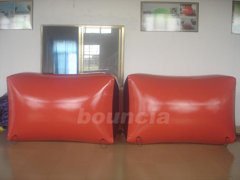Red Inflatable Brick Paintball Bunker Wall  Durable Anchor Strings for Paintball Games